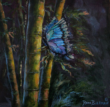 Butterfly Painting by Rena Bierman